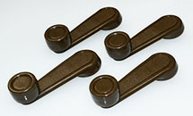 SET BROWN AFTERMARKET WINDOW REGULATOR HANDLE