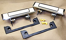 PAIR AFTERMARKET CHROME FRONT OUTER DOOR HANDLES