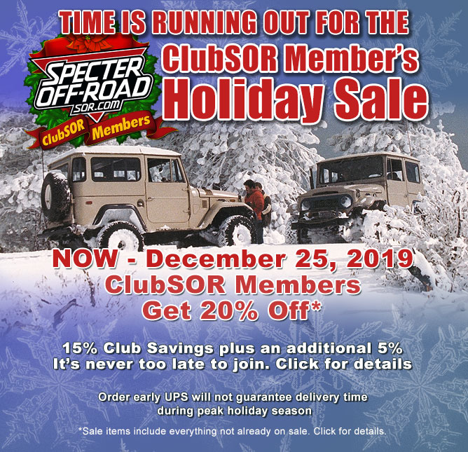 ClubSOR 2019 20% Holiday Sale