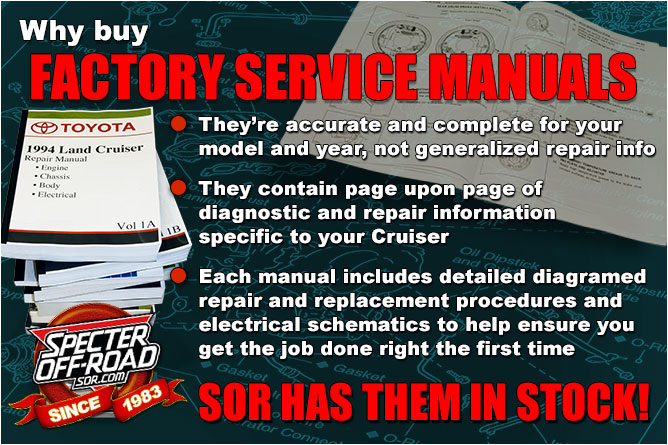 Land Cruiser Factory Service Manuals