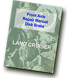 Land Cruiesr Front Axle Repair Manual