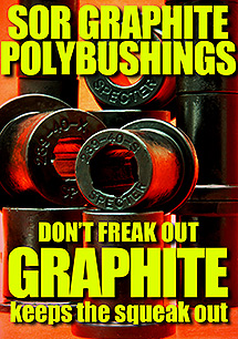 SOR Graphic Impregnated Poly Bushings