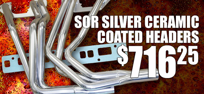 SOR Silver Ceramic Coated Headers