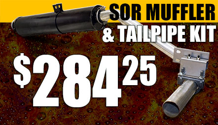 SOR FJ40 Land Cruiser Muffler & Tail Pipe Kit
