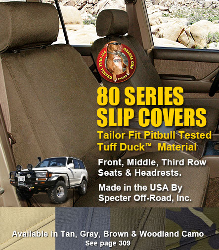 FJ80 Tuff Duck Slip Covers