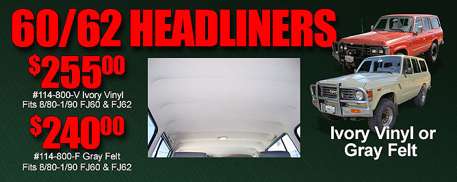 60 & 62 Series Land Cruiser Headliners