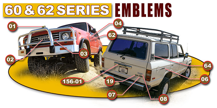 60 Series Land Cruiser Emblems and Insignias