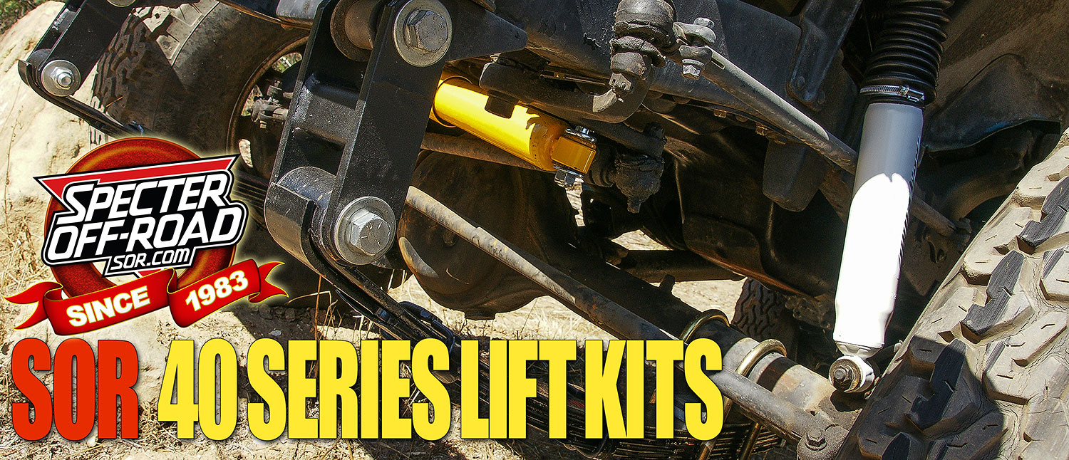 Specter Off-Road 40 Series Lift Kit