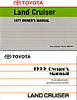 Land Cruiser Factory Service Manuals - Owners Manuals
